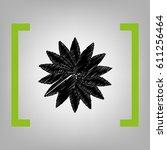 flower sign. vector. black... | Shutterstock .eps vector #611256464
