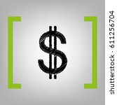 united states dollar sign.... | Shutterstock .eps vector #611256704