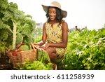 friendly african american woman ... | Shutterstock . vector #611258939