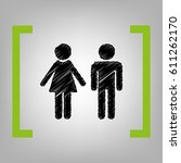male and female sign. vector.... | Shutterstock .eps vector #611262170