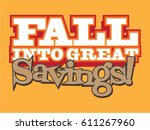 fall into great savings | Shutterstock .eps vector #611267960