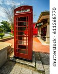 famous london red telephone... | Shutterstock . vector #611268770