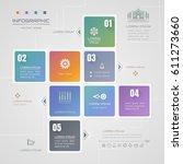 infographics square design...   Shutterstock .eps vector #611273660