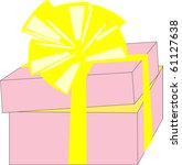 gift in a box | Shutterstock .eps vector #61127638