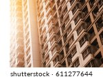 apartment building room liveing ... | Shutterstock . vector #611277644