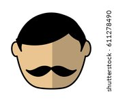 man avatar character icon... | Shutterstock .eps vector #611278490