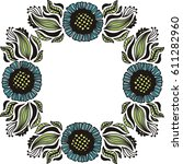 beautiful frame of flowers.... | Shutterstock .eps vector #611282960