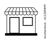 store building front isolated... | Shutterstock .eps vector #611289899