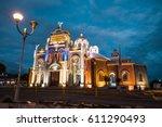 basilica de nuestra senora de... | Shutterstock . vector #611290493