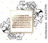 vintage delicate invitation... | Shutterstock .eps vector #611292794