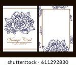 vintage delicate invitation... | Shutterstock .eps vector #611292830