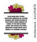 vintage delicate invitation... | Shutterstock .eps vector #611292878