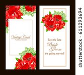 vintage delicate invitation... | Shutterstock .eps vector #611293694