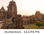 ancient indian temple and... | Shutterstock . vector #611296796