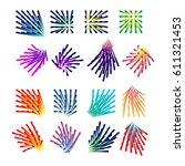 abstract dot line vector logo | Shutterstock .eps vector #611321453