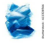 blue watercolor acrylic paint... | Shutterstock . vector #611328566