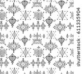 seamless pattern with voodoo...