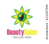 beautician logo with text space ... | Shutterstock .eps vector #611337344