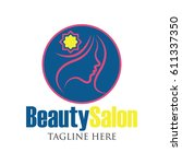 beautician logo with text space
