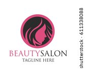 beautician logo with text space ... | Shutterstock .eps vector #611338088