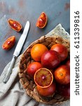 Fresh Ripe Sicilian Oranges An...