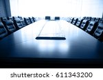 conference table and chairs in... | Shutterstock . vector #611343200