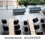 top view of business hall. | Shutterstock . vector #611343320