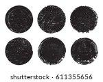 set of grunge post stamps... | Shutterstock .eps vector #611355656
