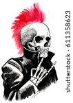 dead punk | Shutterstock . vector #611358623
