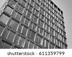modern office building. black... | Shutterstock . vector #611359799