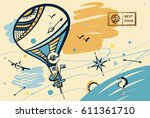freehand drawn concept image... | Shutterstock .eps vector #611361710