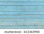 The Old Blue Wood Texture With...