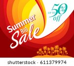 summer sale banner design... | Shutterstock .eps vector #611379974