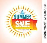 summer sale banner design... | Shutterstock .eps vector #611380010