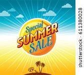 summer sale banner design... | Shutterstock .eps vector #611380028