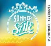 summer sale banner design... | Shutterstock .eps vector #611380058