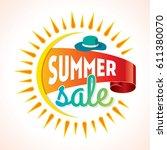 summer sale banner design... | Shutterstock .eps vector #611380070