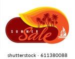 summer sale banner design... | Shutterstock .eps vector #611380088