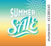 summer sale banner design... | Shutterstock .eps vector #611380160