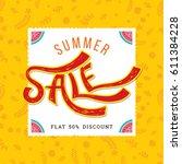 summer sale banner design... | Shutterstock .eps vector #611384228