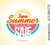 summer sale banner design... | Shutterstock .eps vector #611384270