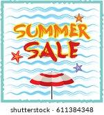 summer sale banner design... | Shutterstock .eps vector #611384348