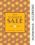 summer sale banner design... | Shutterstock .eps vector #611384360