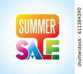 summer sale banner design... | Shutterstock .eps vector #611384390