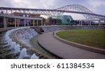 corpus christi harbor bridge...   Shutterstock . vector #611384534