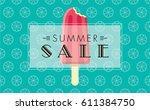 summer sale banner design... | Shutterstock .eps vector #611384750