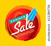summer sale banner design... | Shutterstock .eps vector #611384756