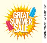 summer sale banner design... | Shutterstock .eps vector #611384759
