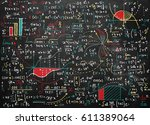 math education vector pattern... | Shutterstock .eps vector #611389064