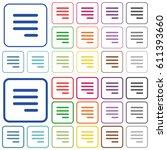 text align justify last row... | Shutterstock .eps vector #611393660